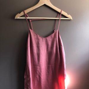 H&M Pink Silk Slip Dress